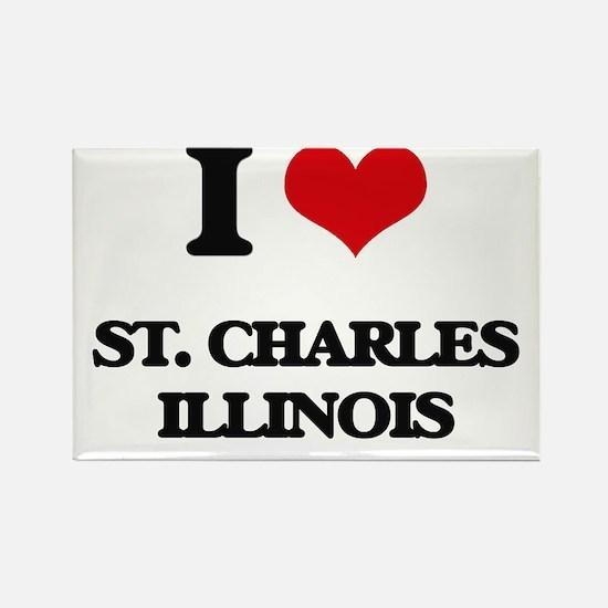 I love St. Charles Illinois Magnets