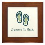 Summer is Good Framed Tile