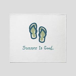 Summer is Good Throw Blanket