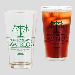 Bob Lablaw's Law Blog Drinking Glass