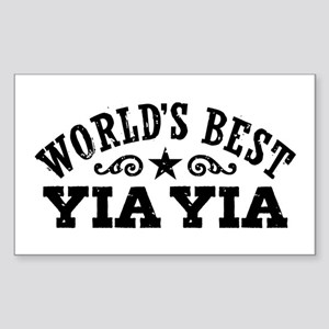 World's Best Yia Yia Sticker (Rectangle)