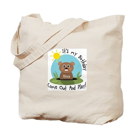Alexia birthday (groundhog) Tote Bag