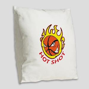 HOT SHOT Burlap Throw Pillow