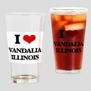 I love Vandalia Illinois Drinking Glass