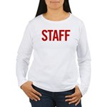 Staff (red) Women's Long Sleeve T-Shirt