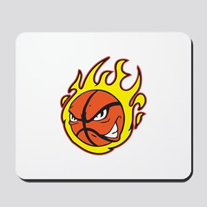FLAMING BASKETBALL Mousepad