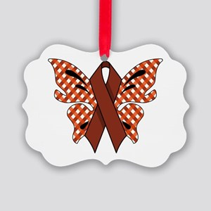 RED RIBBON Picture Ornament