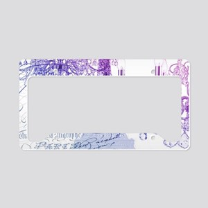 purple chandelier paris eiffe License Plate Holder