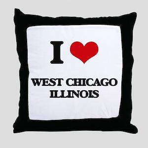 I love West Chicago Illinois Throw Pillow
