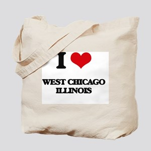 I love West Chicago Illinois Tote Bag