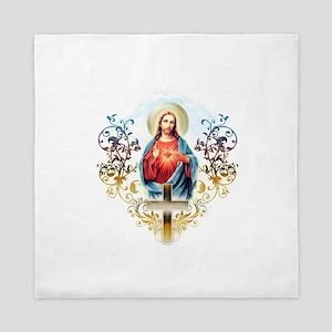 Sacred Heart of Jesus Queen Duvet