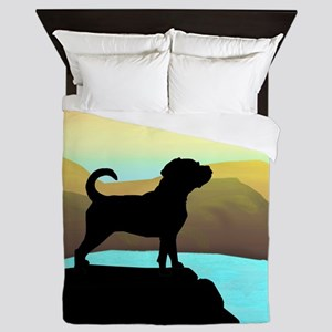Puggle By The Sea Queen Duvet