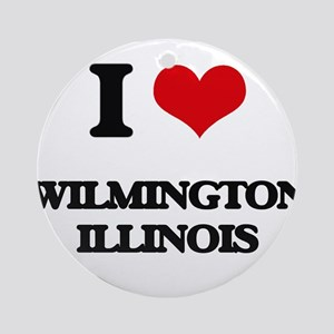 I love Wilmington Illinois Ornament (Round)