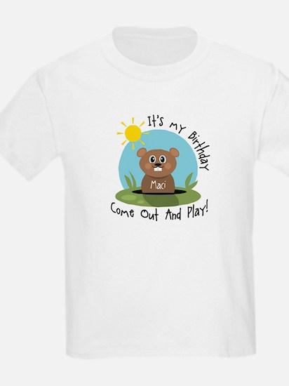 Maci birthday (groundhog) T-Shirt