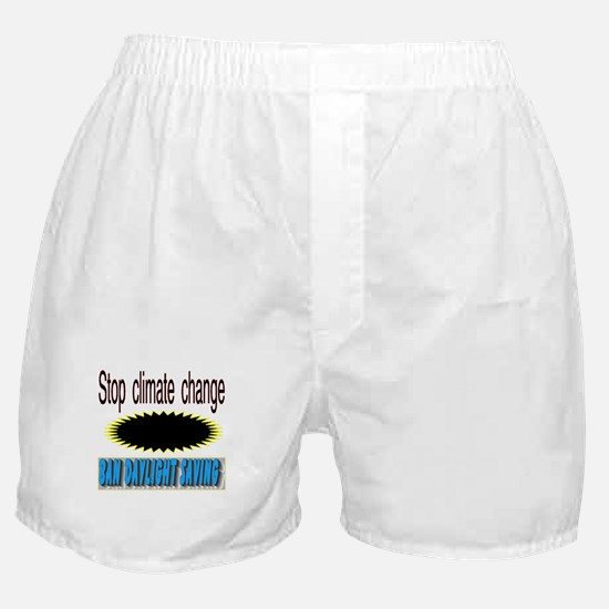 stop climate change Boxer Shorts