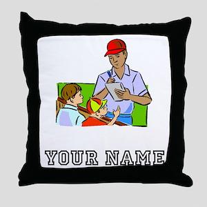 Signing Autographs (Custom) Throw Pillow