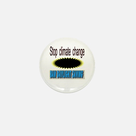 stop climate change Mini Button