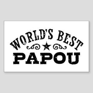 World's Best Papou Sticker (Rectangle)