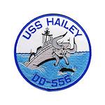 USS HAILEY Button