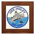 USS HAILEY Framed Tile