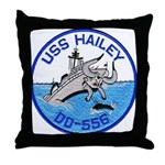 USS HAILEY Throw Pillow