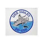 USS HAILEY Throw Blanket