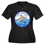 USS HAILEY Women's Plus Size V-Neck Dark T-Shirt
