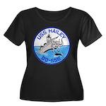 USS HAIL Women's Plus Size Scoop Neck Dark T-Shirt