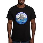 USS HAILEY Men's Fitted T-Shirt (dark)