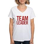 Team Leader (red) Women's V-Neck T-Shirt