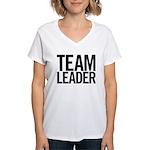 Team Leader (black) Women's V-Neck T-Shirt