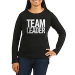 Team Leader (white) Women's Long Sleeve Dark T-Shi