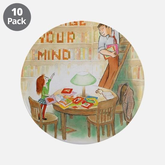 """1987 Children's Book Week 3.5"""" Button (10"""