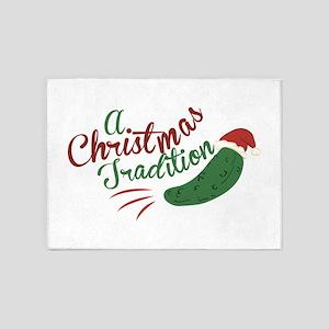 A Christmas Tradition 5'x7'Area Rug