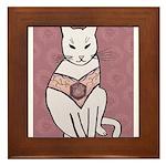 Rose Cat Framed Tile