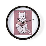 Rose Cat Wall Clock