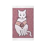 Rose Cat Area Rug