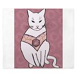 Rose Cat King Duvet