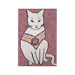 Rose Cat Magnets