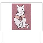 Rose Cat Yard Sign