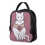 Rose Cat Neoprene Lunch Bag