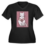 Rose Cat Plus Size T-Shirt