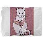 Rose Cat Pillow Sham