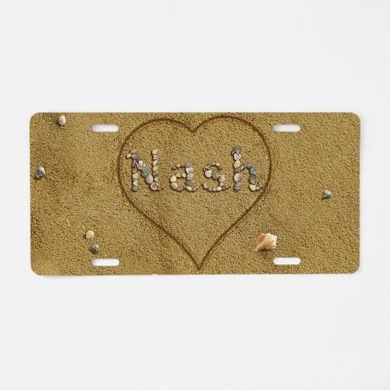 Nash Beach Love Aluminum License Plate
