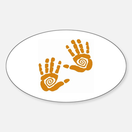 Hands Sticker (Oval)