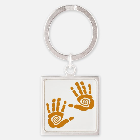 Hands Square Keychain