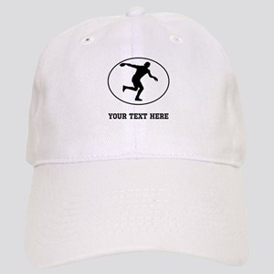 Discus Throw Silhouette Oval (Custom) Baseball Cap