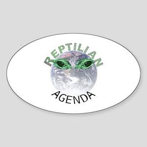 Reptilian Agenda Sticker