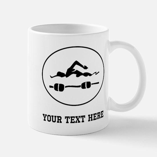 Swimmer Oval (Custom) Mugs