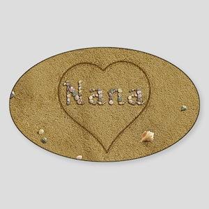 Nana Beach Love Sticker (Oval)